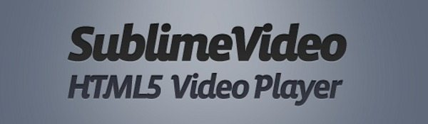 Sublime Video Player – Reproductor de video para HTML 5