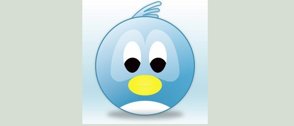 Twitter icon - Face bird
