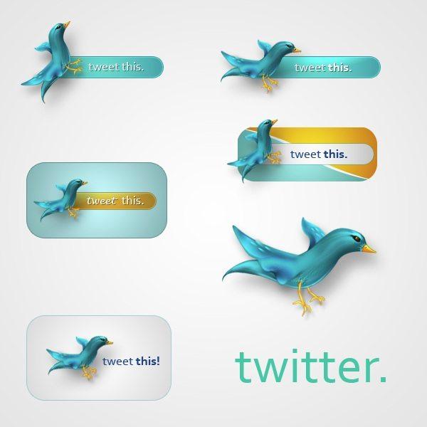 Twitter icons set
