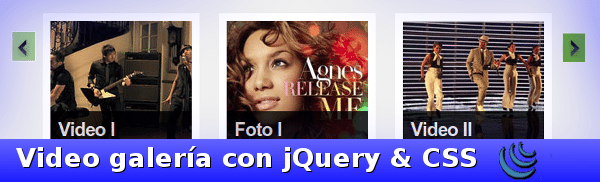 Video galeria con jQuery y CSS
