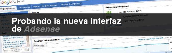 Adsense - Nueva Interfaz