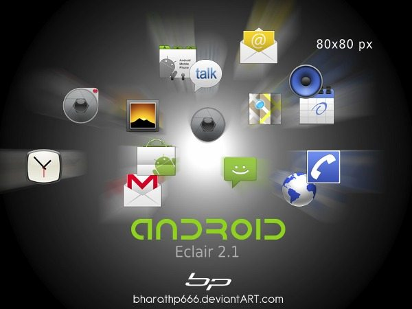Android Applications mini icons