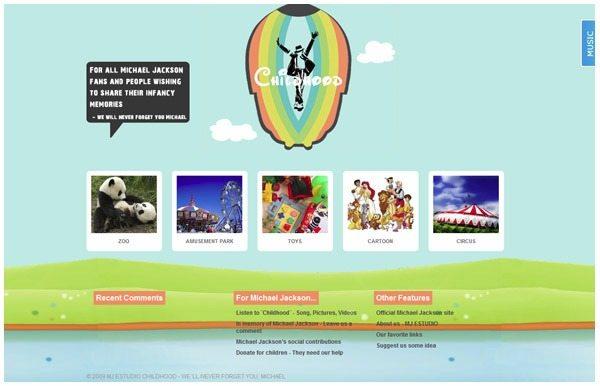 Download-wordpress-theme-MICHAEL-JACKSON-CHILDHOOD 18 Modernos themes para Wordpress para descargar gratis