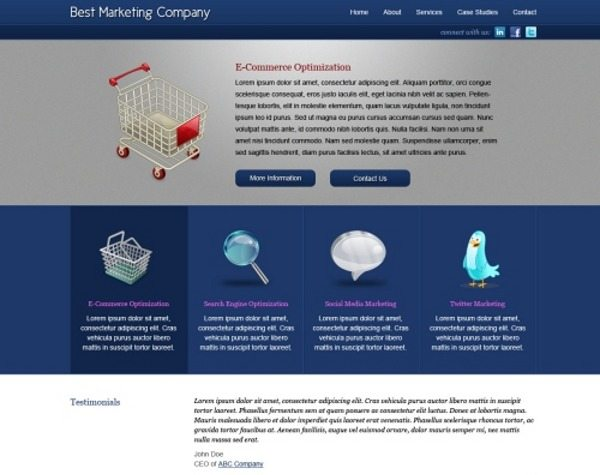 Best Marketing Company - Template HTML