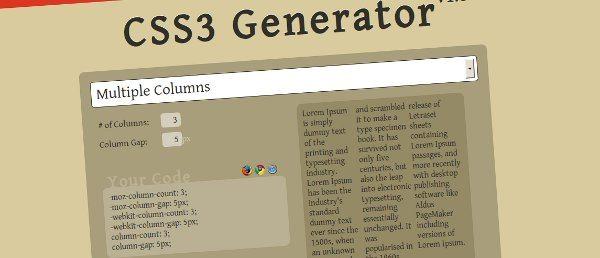 css3-generator 14 Recursos para trabajar con CSS3