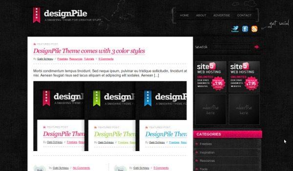 designpile-theme-wordpress 18 Modernos themes para Wordpress para descargar gratis