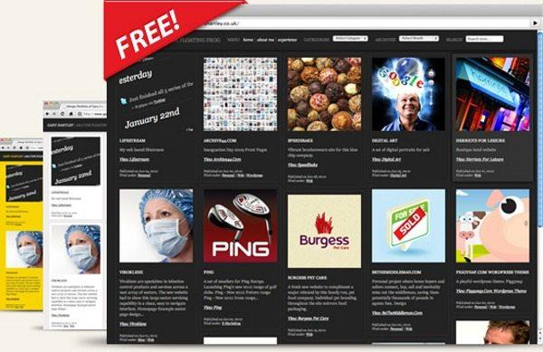 foliogrid-theme-wordpress 18 Modernos themes para Wordpress para descargar gratis