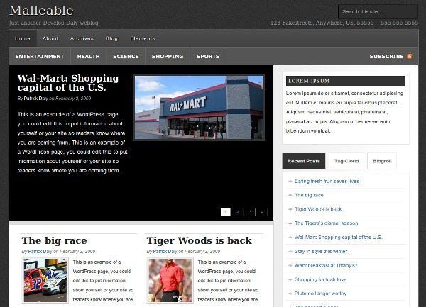 Malleable Theme WordPress