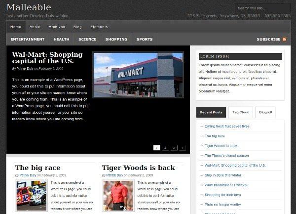 malleable 18 Modernos themes para Wordpress para descargar gratis