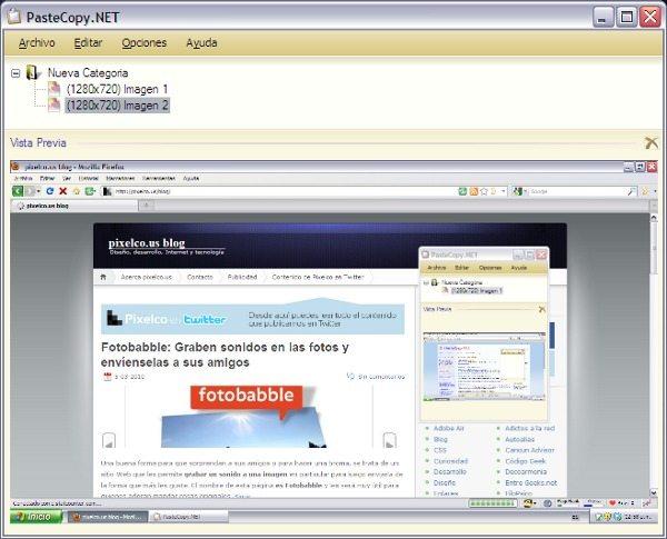 PasteCcopy.NET - Interfaz