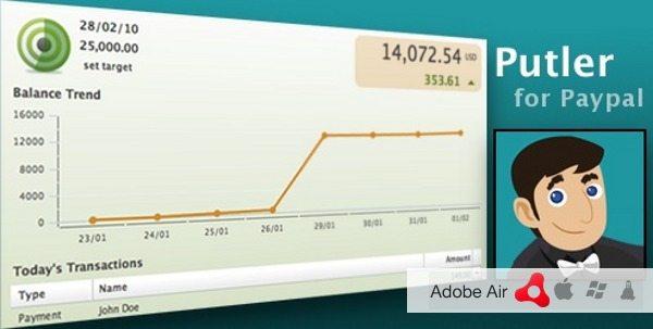 Putler - Cliente Adobe Air para PayPal