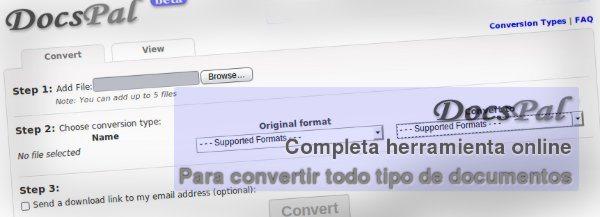 DocsPal - Completa herramienta online para convertir todo tipo de documentos