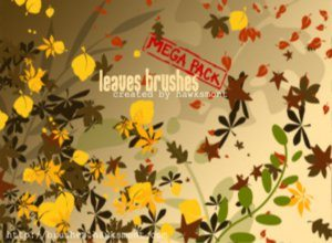 Leaves Brushes for Photoshop Mega Pack