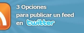 Publicar feeds en Twitter
