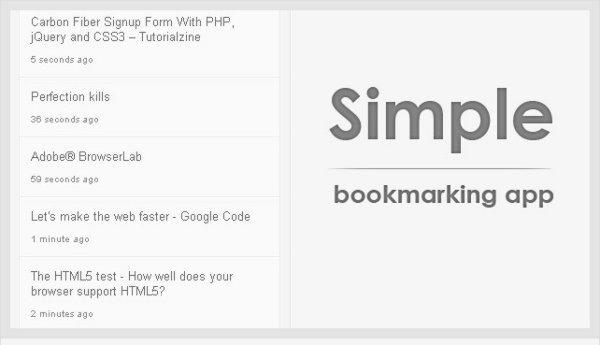 Simple-Bookmarking-APP 2 Simples y prácticos desarrollos con PHP