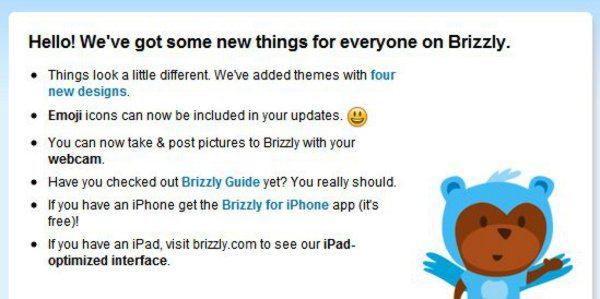 Brizzly - Nueva versión