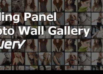 Sliding Panel Photo Wall Gallery with jQuery