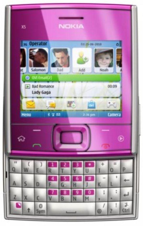 4-Nokia-X5-redes-sociales-cuadrado Nokia X5: Un colorido celular de Nokia con diseño cuadrado