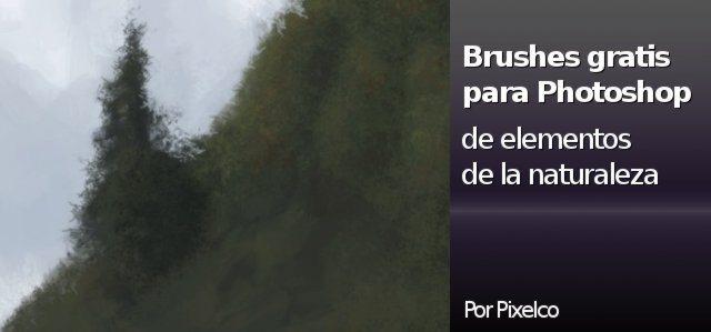 Brushes gratis para Photshop de elementos de la naturaleza