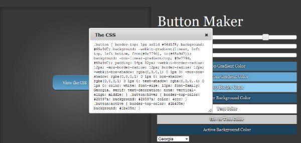 Button-Maker-Interfaz 14 Recursos para trabajar con CSS3