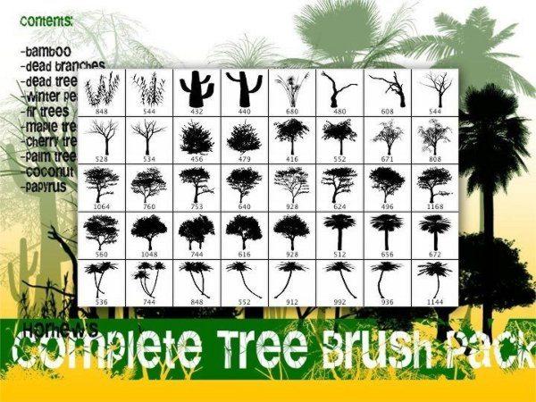 Complete Tree Brush set Photoshop