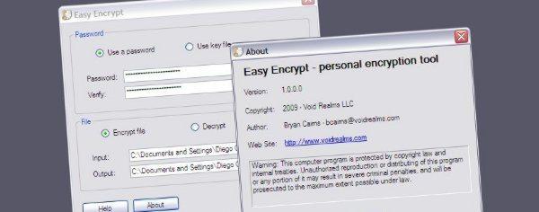 Easy-Encrypt-personal-encryption-tool Easy Encrypt - Potente programa freeware para cifrar archivos