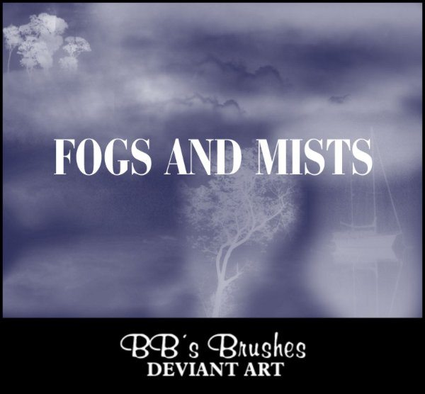 Fogs and Mists Photoshop Brushes