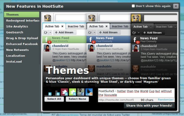 HootSuite 5 - Nueva versión con HTML%