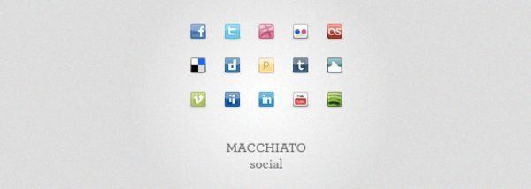 Machiato Social Icons Set