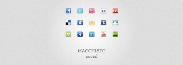 Machiato-Social-Icons-Set Free Mini Icons - 2 Colecciones de iconos mini