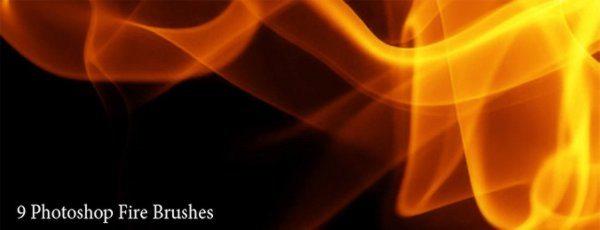 Photoshop Fire Brushes