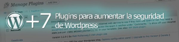 Plugins para aumentar la seguridad de WordPress