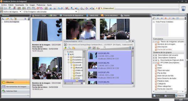 StudioLinePhotoBasic - Interfaz