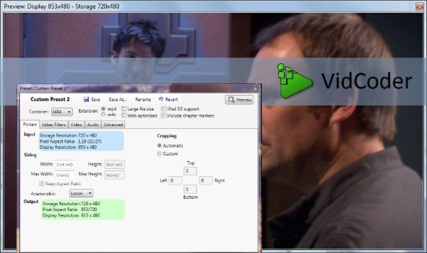 VidCoder - Convertir DVDs a video