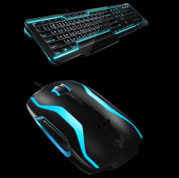 2-mouse-teclado-Tron-Disney-Razer Un mouse y un teclado basados en la película de Disney Tron