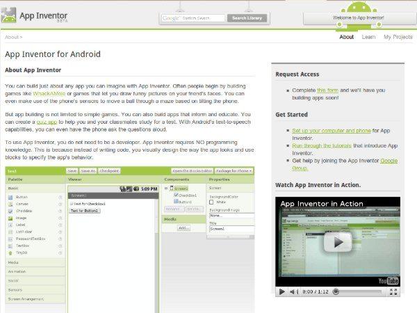 App Inventor - Android de Google