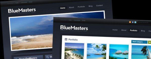 BlueMaster - Template PSD gratuito