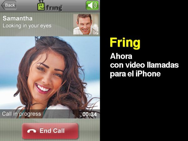 Fring programa gratis con video llamadas para el iphone