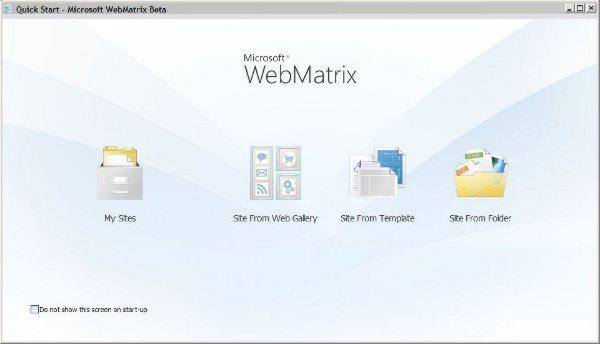 Microsoft WebMatrix - Quick Start | Desarrollo web