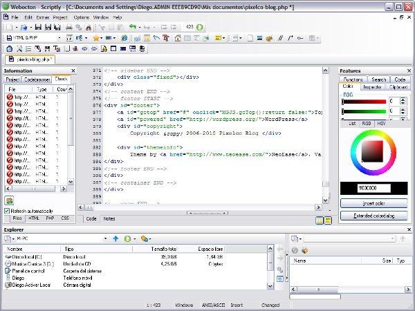 Scriptly - Editor para desarrollo web