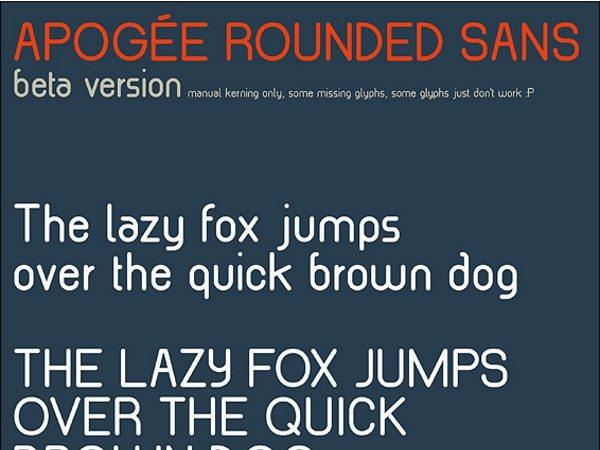 Apogee Rounded Sans Beta - font