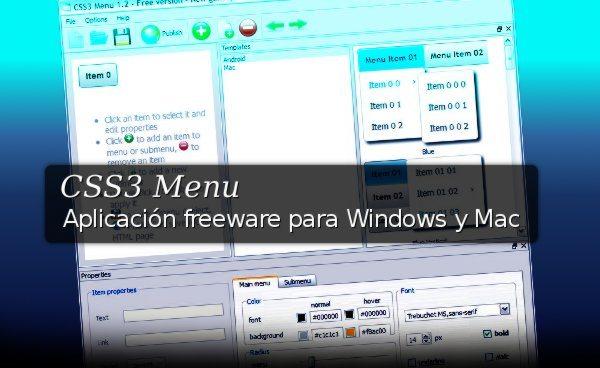 CSS3 Menu - Programa freeware