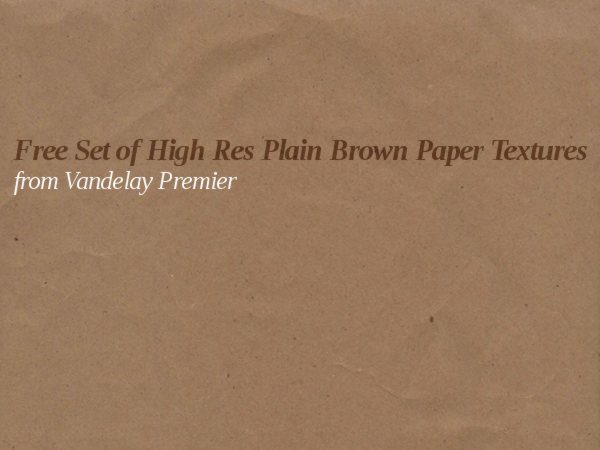 Free Set of High Res Plain Brown Paper Textures from Vandelay Premier