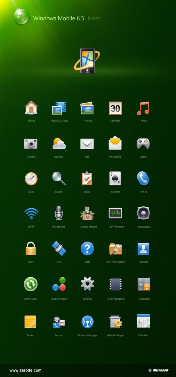 Icons for Windows Mobile