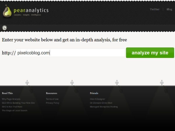PearAnalytics - herramienta SEO