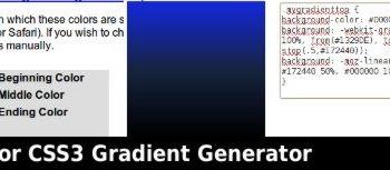 Quick 3-Color CSS3 Gradient Generator