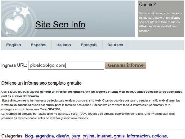 Site SEO Info