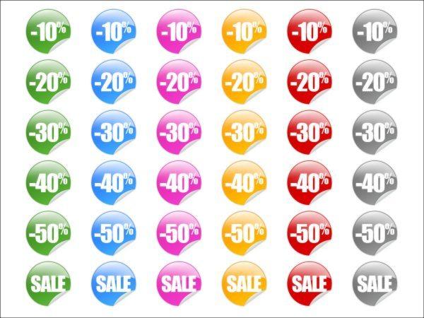 Sticker pack icon set