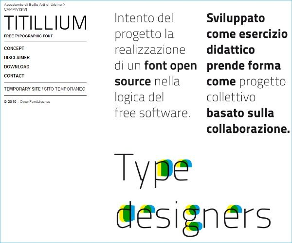 Titillium free font