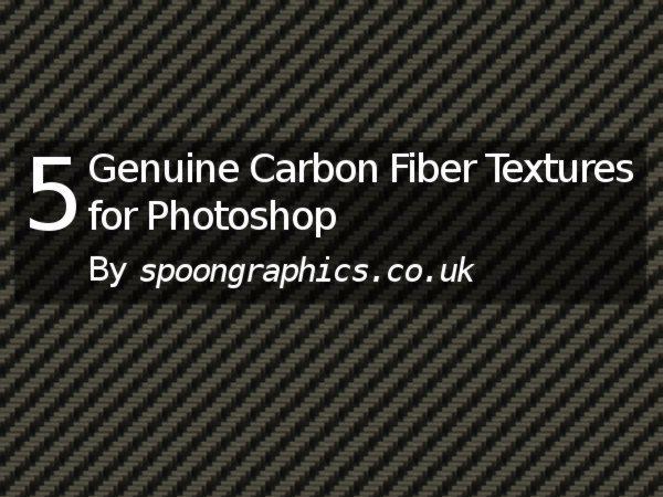 5 Genuine Carbon Fiber Textures for Photoshop-spoongraphics